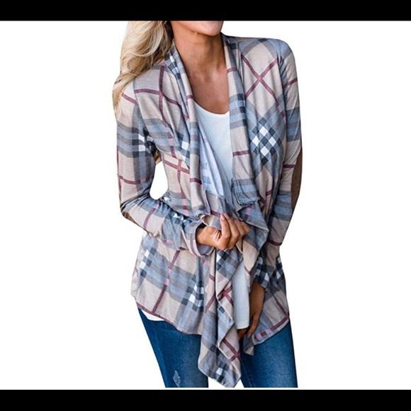 Sweaters - Women's plaid cardigan size small